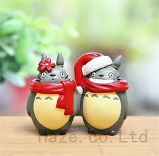 "2pcs/set Christmas My Neighbor Totoro Mini Figure Xmas Gift Home Decor in 1.5"""