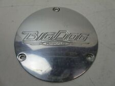 04-under Big Dog Motorcycles BDM 3 Hole Derby Cover Polished Left Side Drive
