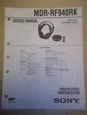 Sony Service Manual~MDR-RF940RK  Wireless Headphones~Original~Repair