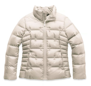 NEW $120 NORTH FACE GIRLS ACONCAGUA JACKET VINTAGE WHITE DOWN COAT M MED 10 12