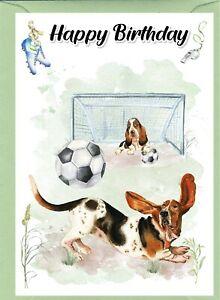"Basset Hound Dog (4""x 6"") Birthday Card - blank inside - by Starprint"