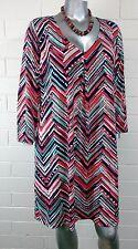 GLAMOUR DRESS Size 16 Chevron Multicolor  NWT $100.00