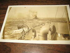 Vintage Original MILITARY SHIP PHOTO WWII Historic Postcard Unposted 215