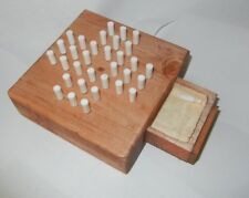 32-Peg wooden solitaire game