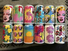 Set of 12 Empty Can (Kirin Lager Beer 350ml) Andy Warhol - Marilyn Monroe Japan