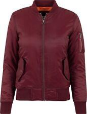 urban Classics Damen Bomber Jacke Jacket Tb807 M Bordeaux rot