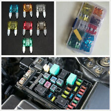 120 Pcs Durable Universal Automobile Small Size Blade Fuse 7 Kinds AMP & Box Kit