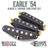 Stratocaster Guitar Pickups | 1954 Strat Style | ALNICO 3 Hand Wound USA Made