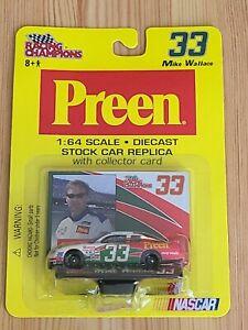 2002 #33 Mike Wallace Preen Promo 1/64 Action NASCAR Diecast