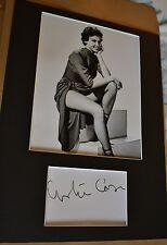 "LESLIE CARON  AUTOGRAPH SIGNED  CARD (10"" X 8"" PHOTO)  COA 55"