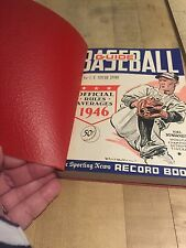 1946 The Sporting News Baseball Guide Leather Cover Still Attached Hal Newhouser