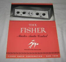 Original FISHER 50C Master Audio Control Tube Preamplifier Single Sheet BROCHURE