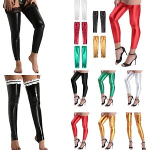 Sexy Women Hosiery Socks Pantyhose Leather Lingerie Thigh-High Stay-Up Stockings