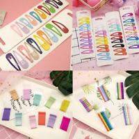 Cute 50Pcs/Set Candy Color Kid Girls BB Snap Hairpin Hair Clips Hair Accessories