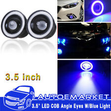 "2x 20W 3.5"" SUV Angel Eye COB Blue Halo Ring LED DRL Projector Lens Market Light"