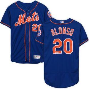 PETE ALONSO Autographed New York Mets Blue Authentic Flexbase Jersey FANATICS