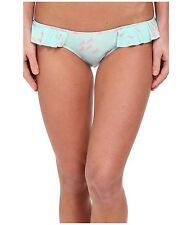 BEACH RIOT TRUFFLE UNICORN PRINT SWIM BIKINI BOTTOM BLUE PINK LARGE NEW! $65