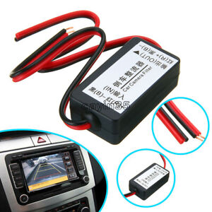 DC 12V Power Relay Capacitor Filter Rectifier for Car Rear View Backup Camera