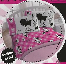 Disney Minnie Mouse Pink LOVE Cotton Rich 3pc Twin Sheet Set Brand New Free Ship