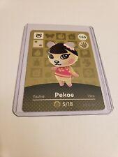 Pekoe # 160 Animal Crossing Amiibo Card Series 2 MINT NEVER SCANNED!