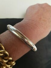 Vintage Classic 67mm Nellie Stewart Sterling Silver 9mm Golf Bangle 21Grm Chunky