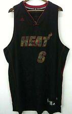Rare Adidas Miami Heat Swingman Lebron James Camouflage LIMITED Jersey Men's XXL