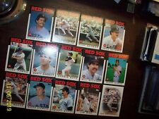 JLeBeau555 1986 Topps Boston Red Sox Team Set 29 cards Near Mint or better