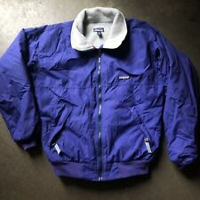 Men's Vintage Patagonia USA 80's Fleece Lined Windbreaker Bomber Zip Jacket Sz S