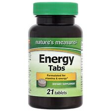 Nature's Measure Energy Tabs, 21 ct. US Seller Free Shipping