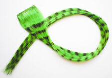 Hair feather extension clip - Green Grizzly - HIBISCUS