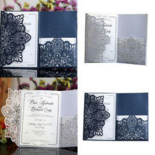 HB- 10Pcs Hollow Floral Laser Cut Business Wedding Invitation Card Cover Cheap