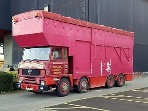 TRUCK PHOTO -  CAROUSALl RIDE HIRE, BARTON ON HUMBER FODEN LORRY A739 JAC