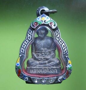 PERFECT LP PHUEK OLD THAI BUDDHA AMULET PENDANT RARE !!!