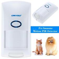 Senza fili Rivelatore Sensore PIR 25KG Pet Immune Sistema allarme Esterno U1W7