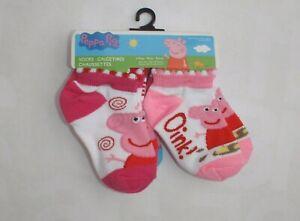 Peppa Pig Planet Socks 6 pair girl's sock size 2-4 shoe size 4-7 quarter socks