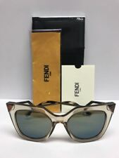 FENDI FF 0060/S MSQ3U Silver Palladium Stud Tipped Cat Eye Sunglasses Authentic