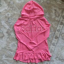 Girls Kids Youth long sleeve Hooded Top Adidas shirt NEW Size Large 14 Pink
