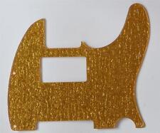 Gold Sparkle Plastic 8hole Tele Humbucker Scratch Plate Pickguard for Telecaster
