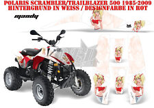AMR Racing DECORO GRAPHIC KIT ATV POLARIS interferenzaNverso/Trailblazer Mandy B