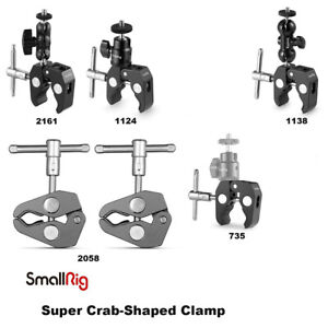 """SmallRig Super Crab-Shaped Clamp 15-40mm with 1/4"""" Screw/Ball Heads/ARRI Hole"""