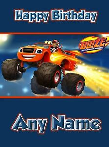Blaze and The Monster Machines  - Personalised Birthday Card Son Grandson Nephew
