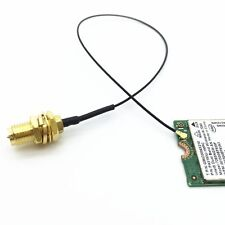 "2 x 4"" M.2 IPEX U.fl/IPEX to RP-SMA Female Pigtail Mini PCIe Wifi MHF4 MHFIV"
