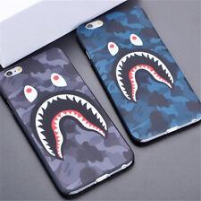 Fashion Cool Shark Camo Bape Hard Back Case Cover For iphone 5 6 6Plus 7 7Plus