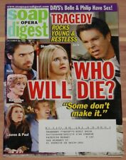 OCTOBER 30 2007 SOAP OPERA DIGEST MAGAZINE YOUNG & THE RESTLESS CAST