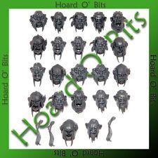 WARHAMMER BIN BITS OGRE KINGDOMS IRONGUTS - 22x OGRE HEADS