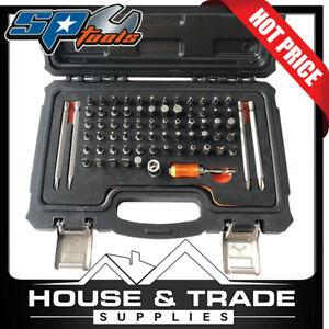 """SP Tools Bit Set 71 Piece 1/4""""Dr Technicians Hex/Torx/Tamper SP39511"""