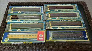 Vintage AHM Rivarossi HO Scale Pennsylvania Railroad PRR - Lot of 8 Cars