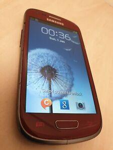 Samsung Galaxy S III Mini GT-I8190N - 8GB - Red (Unlocked) Smartphone