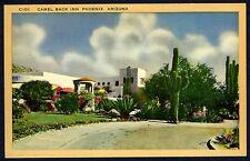 ARIZONA CACTUS & CAMELBACK INN in PHOENIX,ARIZONA~ORIGINAL 1940s LINEN POSTCARD