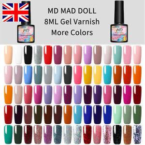 GEL POLISH MAD DOLL  NEW COLOURS UV / LED GEL NAIL POLISH - UK SELLER